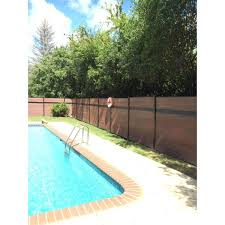 Veranda Euro Style 6 Ft H X 6 Ft W Estate King Cedar Aluminum Composite Horizontal Fence Section Ef 01401 The Home Depot