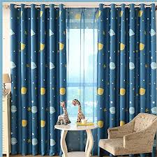 Amazon Com Wpkira Window Treatment Kids Room Printed Blackout Curtains Room Darkening Thermal Insulated Grommet Top Planet Panel For Boys Bedroom 1 Panel W40 X L63 Inch Home Kitchen