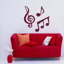 Shop Treble Clef Musical Notes Symbol Music Vinyl Wall Decal Overstock 8756290