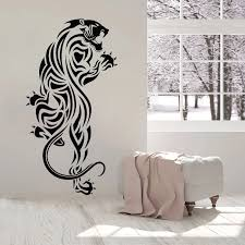 Panther Wall Sticker Cheetah Vinyl Decal Predator Animal Jaguar Mural Cool Living Room Decor Removable Home Decoration O258 Wall Stickers Aliexpress