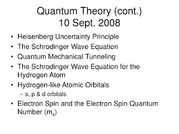 ppt quantum theory cont 10 sept