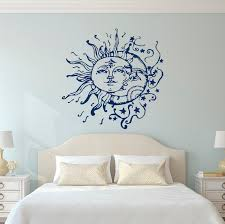 Sun Moon Stars Wall Decals For Bedroom Sun And Moon Wall Etsy Wall Decals For Bedroom Moon Wall Decal Wall Stickers Bedroom
