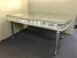 antiqued silver mirrored dining table