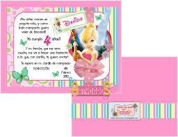 Tarjetas De Invitacion A Cumpleanos Tinkerbell Para Regalar 10 Hd