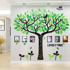 Amazon Com Family Tree Wall Decals 3d Diy Photo Frame Wall Stickers Mural For Living Room Sofa Tv Art Wall Background Home Kitchen