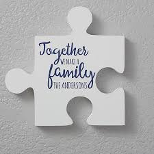 personalized family quotes wall puzzle pieces quote for the home