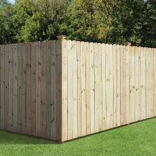 Fence Picket Privacy Fencing Pressure Treated Cedar Tone Pine 1x6 In 6ft 6 Pack