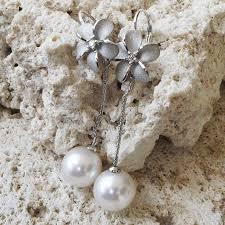 denny wong 14k plumeria drop earrings