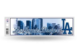 Los Angeles Dodgers La Bumper Sticker Officially Licensed Mlb Aftermarket Replacement Non Factory Custom Sticker Shop