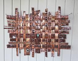 copper weaving wall art artspace