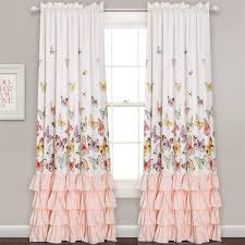 Flutter Butterfly Window Curtain Set Lush Decor Teenage Girl Bedroom Diy Drapes Curtains