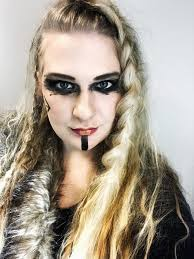 lagertha inspired hair and makeup hey
