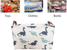 Hampers Baby Products Kids Room Storage Baskets Large Fabric Collapsible Toy Basket Storage Organizer For Baby Toys Nursery Laundry Basket Dinosaur