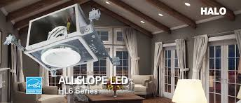 led pitched ceiling light fixture