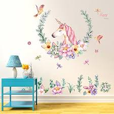 Gemini Mall Cute Unicorn Wall Sticker Mural Art Decor For Kids Children Bedroom Decorartion Buy Online In Cambodia Gemini Mall Products In Cambodia See Prices Reviews And Free Delivery Over 27 000 Desertcart