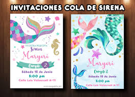 Plantilla Invitacion Cola De Sirena Mermaid Invite Free Mega Idea