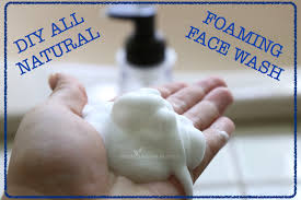 diy all natural foaming face wash