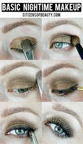 basic everyday eye makeup for evening
