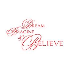 Dream Imagine And Believe Vinyl Decal Small Red Walmart Com Walmart Com