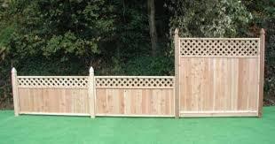 Fence With Lattice Backyard Fences Rustic Fence Brick Fence