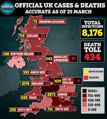 Coronavirus UK map – confirmed cases ...
