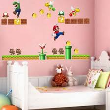 Shop Cute Super Mario Wall Decals Removable Vinyl Art Mural Home Baby Kids Room Decor Online From Best Kids Furniture Decor Storage On Jd Com Global Site Joybuy Com