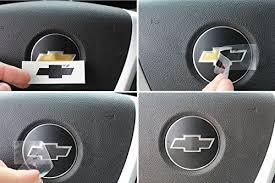 Steering Wheel Bowtie Overlay Decal 2007 2013 Chevrolet Silverado Color Gloss Black Car Accessories Online Market Chevy Silverado Accessories Chevy Cruze Accessories Chevy Accessories
