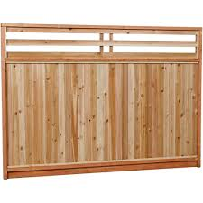 Unbranded 6 Ft X 8 Ft Premium Cedar Venetian Top Fence Panel With Stained Spf Frame Actual Size 68 3 8 In H X 96 In W 6x8vtp The Home Depot