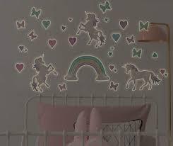 Dream Street Unicorn Glow In The Dark 34 Piece Peel Stick Wall Decal Kit Big Lots