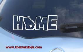 Georgia State Silhouette In Home Text Vinyl Sticker Car Decal State Silhouette Blakdogs Vinyl Designs