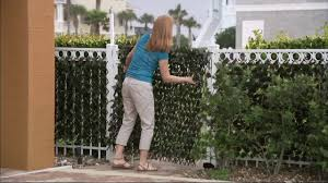 Compass Home Expandable Faux Ivy Privacy Fence With Lights On Qvc Youtube