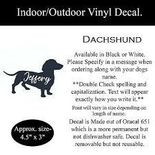 Personalized Dachshund Decal Sticker Car Window Tumbler Flask Ebay