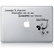 Amazon Com Disney Quote Macbook Laptop Decal Vinyl Sticker Apple Mac Air Pro Laptop Sticker Model Electronic Store Computers Accessories