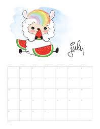 Llama Kawaii Calendario 2019 Para Imprimir Gratis Ideas Y