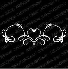 Heart Banner Vinyl Decal 9x3 Vine Flower Pinstripe Design Car Wall Sticker K319 Pinstriping Designs Car Pinstriping Pinstripe Art