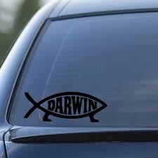Darwin Fish Decal 36 Inches Walmart Com