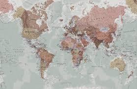 clic world map wallpaper stylish