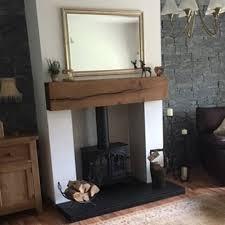 reclaimed oak pine wooden fireplace
