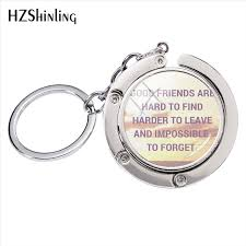 new novelty style best friendship quotes art photos bag hanger