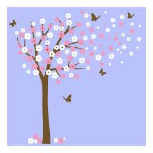 Cherry Blossom Tree Wall Decal Kids Room Big Vinyl Sticker Baby Girls Nursery Home Garden Decor Decals Stickers Vinyl Art