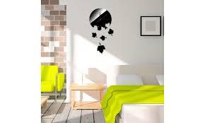 Maple Leaf Diy Mirror Wall Clock Wall Sticker Home Decor Fashion Style Groupon