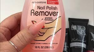 nail polish remover as a slip solution