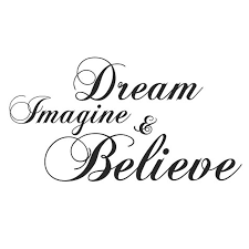 Dream Imagine And Believe Wall Sticker Inspiration Diy Home Decor Creative Art Vinyl Wall Decal 59x31cm Inspiration Home Decor Olivia Decor Decor For Your Home And Office