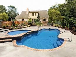 fiberglass pool spa combo design