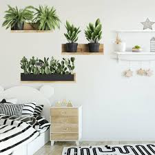 Diy Tropical Leaf Wall Decals Nodic Style Plant Home Decoration Wall Sticker For Sale Online Ebay
