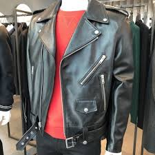 plain leather biker jackets