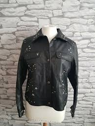 black faux leather studded hearts n