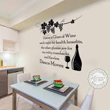Funny Kitchen Dining Room Wall Sticker I Drink Wine Quote Fun Home Vinyl Decor Decal 02