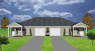 2 bedroom duplex plan garage per unit
