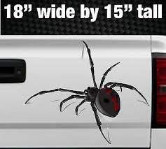 3d Spider Crawling Black Widow Tailgate Hood Window Vinyl Decal Vehicle Truck Ebay
